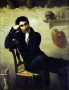Portrait of an Artist in his Studio by Jean-Louis-André-Théodore Géricault