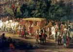 The Entry of Louis XIV and Maria Theresa into Arras 1667 by Adam Frans van der Meulen