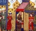 Pavilion tents erected by Ghazan Khan in 1302 by Persian School