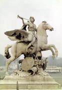 Fame Riding Pegasus 1699 by Antoine Coysevox