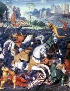 Francois I at the Battle of Marignano 1515 by French School