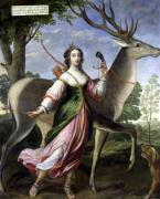 Marie de Rohan-Montbazon as Diana the Huntress by Claude Deruet