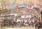 Entry of the French Army Commanded by Emperor Napoleon into Moscow 1812 by French School