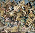 The Battle of Arbelles in 333 BC Aubusson by French School