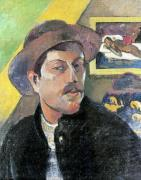 Self Portrait in a Hat 1893 by Paul Gauguin
