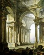 Temple in Ruins by Pierre Antoine Demachy