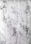 Six Figures Study for an Epiphany by Leonardo da Vinci