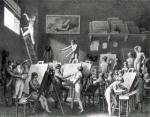 The Studio of Jacques Louis David by Jean Henri Cless