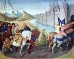 Entry of Louis VII King of France and Conrad III by Jean Fouquet
