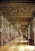 View down the length of the Gallery of Francis I 1530 by French School