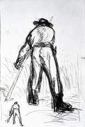 Two Reapers Seen from the Back by Jean Francois Millet