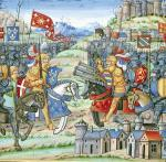 Battle of Montlhery during the War of the League of the Good Public 1465 by French School