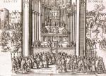 Abjuration of Henri IV at St. Denis 1593 by French School