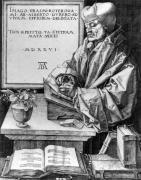 Desiderius Erasmus of Rotterdam 1526 by Albrecht Dürer