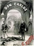 Poster advertising 'Don Carlos' opera by Giuseppe Verdi by Alphonse Marie de Neuville