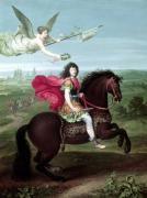 Portrait of Louis XIV on horseback by French School