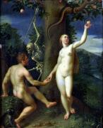 Adam and Eve by Hans Rottenhammer I