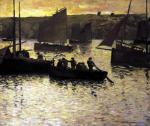 In the Port 1895 by Charles Cottet