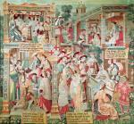 Scenes from the Life of St. Remigius bishop of Reims by French School
