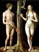 Adam and Eve by Lucas Cranach