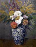 Dahlias c.1873 by Paul Cezanne