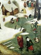 Children Playing on the Frozen River by Pieter Brueghel The Elder