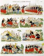 Scenes from the Italian Campaign in 1859 by French School