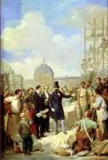 Study for Napoleon III Visiting the Works at the Louvre 1854 by Nicolas Louis Francois Gosse