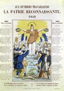 Illustrated lyric sheet for a song dedicated to the workers 1848 by French School