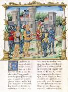The Treaty of Conflans between Louis XI and Charles the Bold 1465 by French School