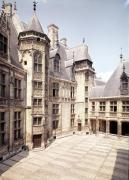 View of the interior courtyard 1443 by French School