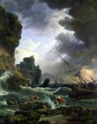 The Storm 1777 by Claude Joseph Vernet