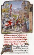 John of Gaunt being received by the citizens of Bayonne by French School
