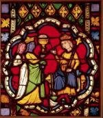 King Solomon and the Queen of Sheba c.1270 by French School