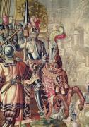 Detail of Charles V on horseback from 'The Taking of Tunis' c. 1630 by Flemish School