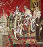 The Abdication of Charles V from 'The Tapestry of Charles Quint' c.1630 by Flemish School