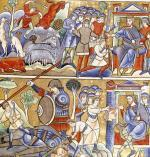 The Story of David from the Souvigny Bible by French School