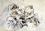 Study for the Death of Sardanapalus 1864 by Ferdinand Victor Eugene Delacroix