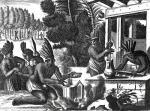 How the Natives of New Spain Prepared Cacao for Chocolate by French School