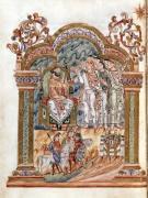 The Magi Visiting King Herod c.1016 by English School