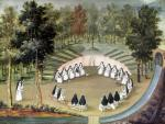 Nuns Meeting in Solitude from 'L'Abbaye de Port-Royal' c.1710 by Louise Madelaine Cochin