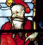 St. Paul detail from the window depicting the four evangelists 1551 by Nicolas Le Prince