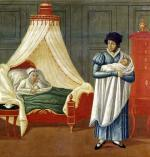 Sign advertising the services of a midwife by French School