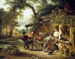 The Cherry Seller by Jean Louis Marnette de Marne