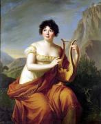 Madame de Stael as Corinne by Marie Elisabeth Louise Vigee-Lebrun