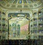 View of the Stage of the Paris Opera Rue Richelieu Paris by French School