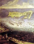 The Lifting of the Siege of the Ile de Re 1627 by French School