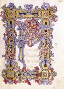 Historiated initial 'P' from 'Les Evangiles' by French School
