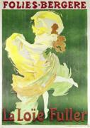 Poster advertising Loie Fuller at the Folies Bergeres 1897 by Jules Cheret
