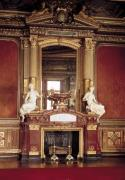 View of the fireplace in the Grand Salon by French School